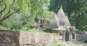 Ashram where Beatles stayed at Rishikech, India
