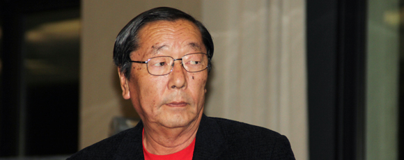 Dr Masaru Emoto in Anglet congres, September 2011, photo Serge Briez